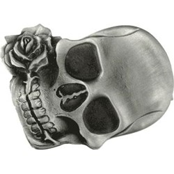Skull and Rose Ipod Nano Belt Buckle