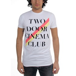 Two Door Cinema Club - Mens Stripe T-Shirt in White
