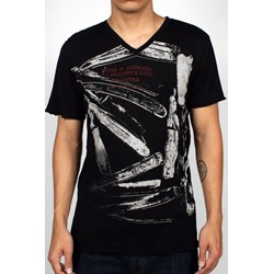 Razors Mens T-shirt in Black by Drifter