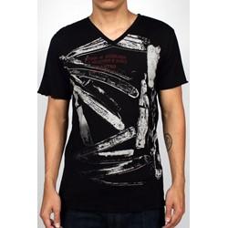Razors Mens T-shirt in Black by Drifter