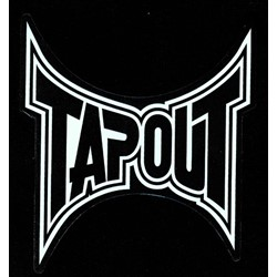Tapout Decal Logo Sticker in White - 5.5