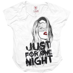 Just for One Night Scoop S/S Womens T-shirt in White by Villains and Vagabonds