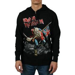 Iron Maiden Scuffed Trooper Zip Hoodie Adult Zip Hoodie in Black