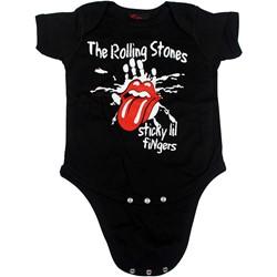 Rolling Stones - Sticky Little Fingers Romper Babywear In Black