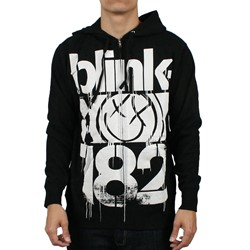 Blink 182 3Bars Zip Up Hoodie in Black