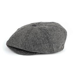 Brood Hat in Gray/Black Herringbone by Brixton