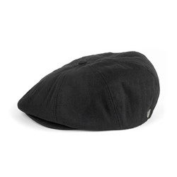 Brood Hat in Black Herringbone by Brixton