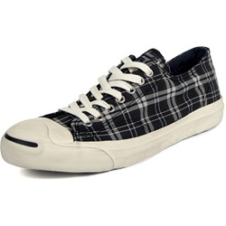Converse Jack Purcell LTT OX Shoes in Navy/Off White Plaid