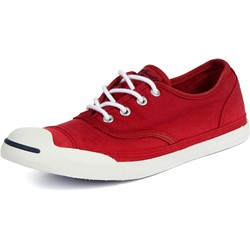 Converse Jack Purcel LP Slip On Canvas Shoes in Red