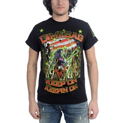 Dimebag Darrell - Flags And Stars Mens T-Shirt In Black