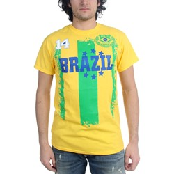 Freeze - Mens Brazil Soccer Team T-Shirt
