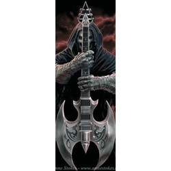 Anne Stokes Rock God Door Textile Fabric Poster 20.5