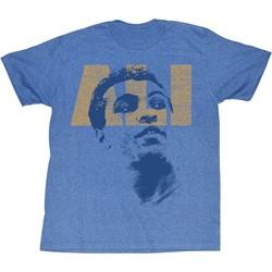 Muhammad Ali - Mens Ali Look T-Shirt In Light Blue Heather