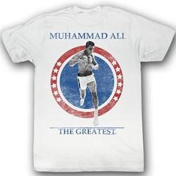 Muhammad Ali - Mens Cross The Line T-Shirt In White