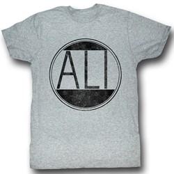Muhammad Ali - Mens Ali Circle T-Shirt In Gray Heather