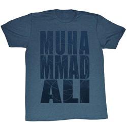 Muhammad Ali - Mens Muha Circles T-Shirt In Navy Heather