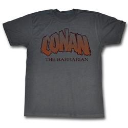 Conan The Barbarian - Mens Conan The Barbarian T-Shirt In Charcoal
