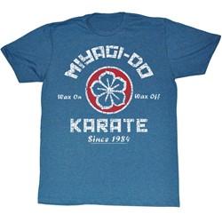 Karate Kid - Mens Miyagi Do Karate T-Shirt in Pacific Blue Triblend