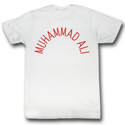 Muhammad Ali - Mens Arch Text T-Shirt in White