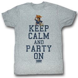 Animal House - Mens Party On T-Shirt in Gray Heather