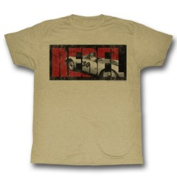James Dean - Mens Rebel T-Shirt in Khaki Heather