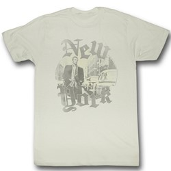 James Dean - Mens Faded T-Shirt in Vintage White