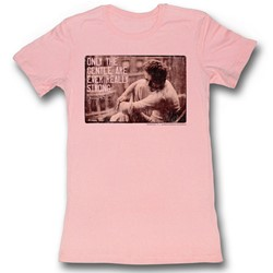 James Dean - Womens Strong T-Shirt in Light Pink Bf