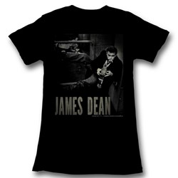 James Dean - Womens Camera T-Shirt in Black Bf