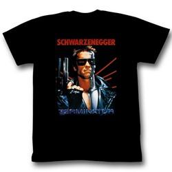 Terminator - Mens Schwarz T-Shirt in Black