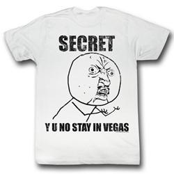 Y U No - Mens Secret T-Shirt in White
