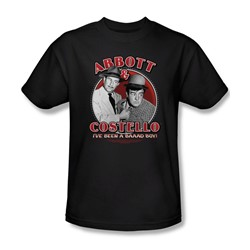 Abbott & Costello - Mens Bad Boy T-Shirt In Black