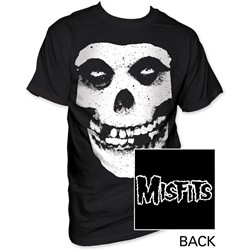 The Misfits - Skull & Logo Mens T-Shirt In Black