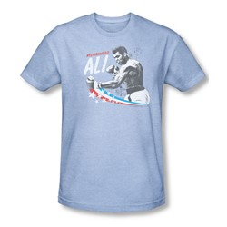 Muhammad Ali - Mens Star Punch T-Shirt In Light Blue