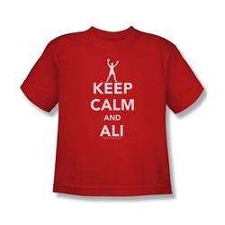 Muhammad Ali - Big Boys Keep Calm And Ali T-Shirt In Red
