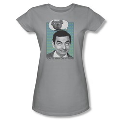 Mr Bean - Womens On My Mind T-Shirt In Silver
