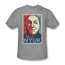 Three Stooges - Mens Nyuk T-Shirt In Silver