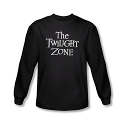 Twilight Zone - Mens Logo Long Sleeve Shirt In Black