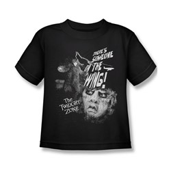 Twilight Zone - Little Boys Someone On The Wing T-Shirt In Black