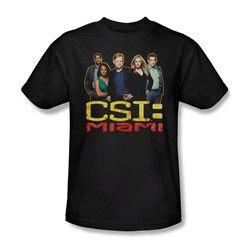 Csi: Miami - Mens The Cast In Black T-Shirt In Black