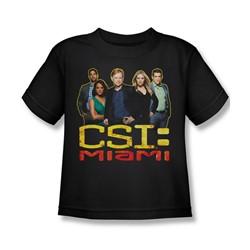 Csi: Miami - Little Boys The Cast In Black T-Shirt In Black