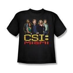 Csi: Miami - Big Boys The Cast In Black T-Shirt In Black