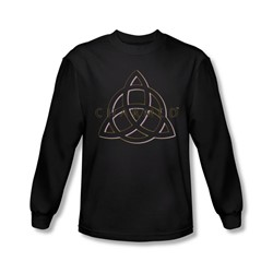 Charmed - Mens Triple Linked Logo Long Sleeve Shirt In Black