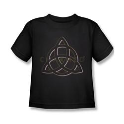 Charmed - Little Boys Triple Linked Logo T-Shirt In Black