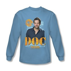 Ncis La - Mens Doc Long Sleeve Shirt In Carolina Blue