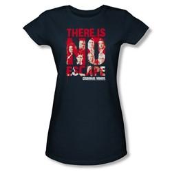 Criminal Minds - Womens No Escape T-Shirt In Navy