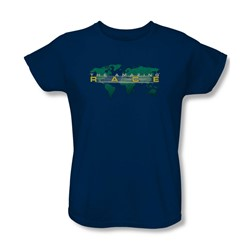 Amazing Race - Womens Around The World T-Shirt In Navy