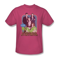 Mp - Mens No One Is Innocent T-Shirt In Hot Pink