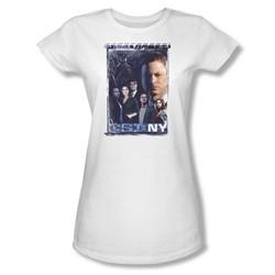 Csi Ny - Womens Watchful Eye T-Shirt In White