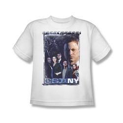Csi Ny - Big Boys Watchful Eye T-Shirt In White