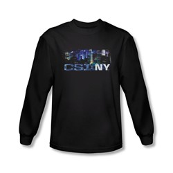 Csi Ny - Mens Never Rests Long Sleeve Shirt In Black